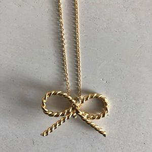 Sarah Mulder Gold Bow Necklace